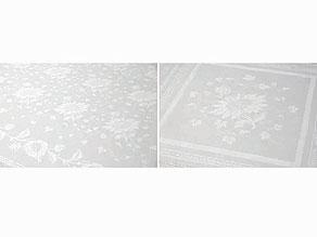 Detailabbildung:  Tafeltuch mit Sonnenblumen und 12 Teemundtüchern