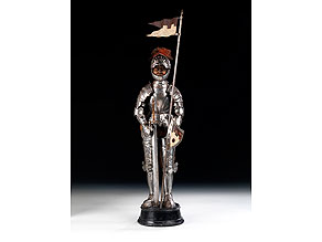 Detail images:  Modell eines Ritters im Rossharnisch