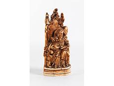 Detail images: Elfenbein-Figurengruppe der Heiligen Familie