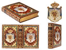 Detail images: † Bibliothek No. 1 Eine große Bibliothek mit 1130 Büchern des 18. Jahrhunderts, Louis XIV und Louis XV.