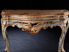 Detail images: Venezianischer Rokoko-Konsoltisch mit Marmorplatte