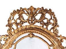 Detail images: Großer italienischer Dielenspiegel