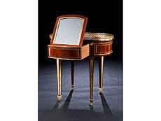 Detail images: Elegantes Poudreuse-Möbel, David Roentgen, 1743 - 1807, zug.