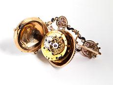 Detail images: Damen-Anhängeruhr in Form einer Muschel
