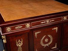 Detail images: Partner-Desk, eleganter, großer Schreibtisch im Empire-Stil