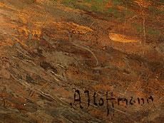 Detailabbildung: A. Hoffmann, möglicherweise Anton Hoffmann, 1863 Bayreuth - 1938 München