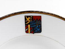 Detail images: Paar Teller aus dem Besitz von Kronprinz Ruprecht von Bayern