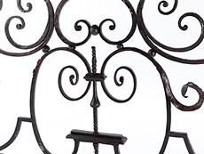 Detail images: Schmiedeeisernes Gitter