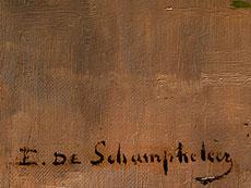 Detail images: Edmond de Schampheleer, 1824 Brüssel - 1899