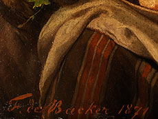 Detail images: François-Joseph-Thomas de Backer, 1812 - 1872