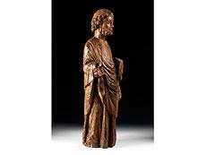 Detail images: Schnitzfigur des Heiligen Petrus