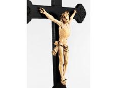 Detail images: Holzkreuz mit Corpus Christi in Elfenbein