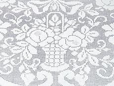 Detail images: Ovales Tafeltuch mit reicher A-Jour-Handarbeit