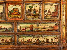 Detail images: Seltener italienischer Schrank mit Arte povera-Bildmotiven