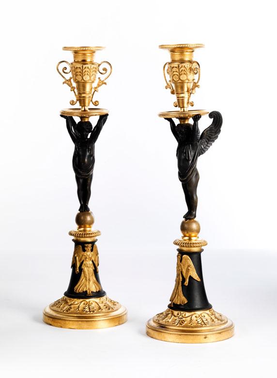† Paar Kerzenstöcke