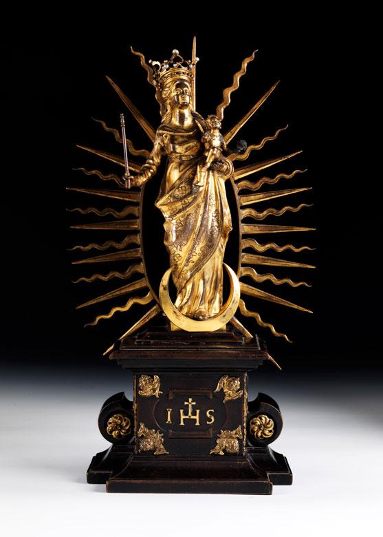 Strahlenkranz-Madonna in Bronze und Feuervergoldung