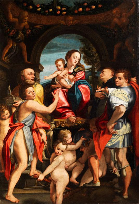 Domenico Mona, 1550 - 1602, Mitarbeiter des Giuseppe Mazzuoli, 1536 - 1589 Ferrara