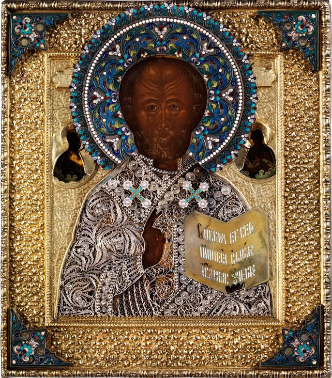 Ikone des Heiligen Nikolaus, der Wundertäter