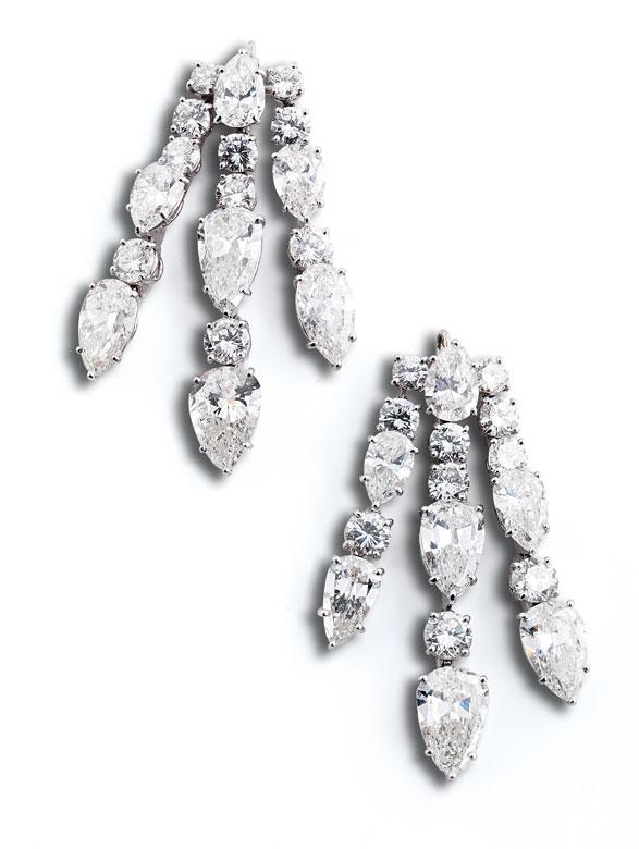 † Diamantanhänger für Ohrringe