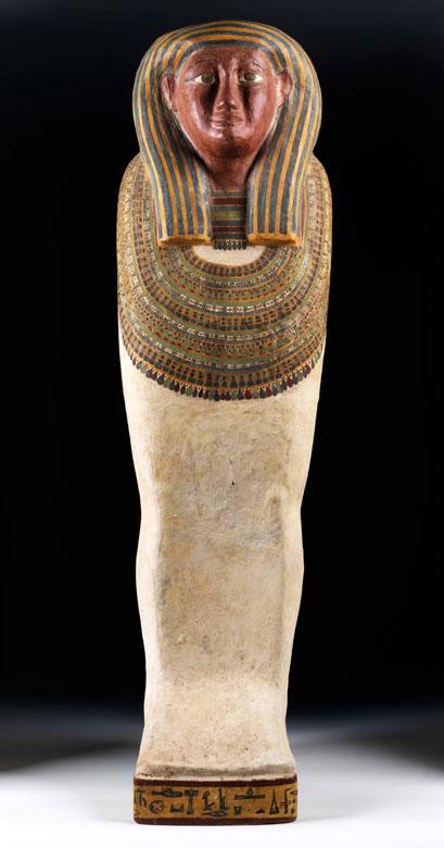 Ägyptischer Sarkophagdeckel des AMUN-IRW-RW (Amun-Jarew-Rew)