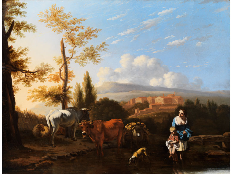 Holländischer, in Italien wirkender Maler des 17. Jahrhunderts