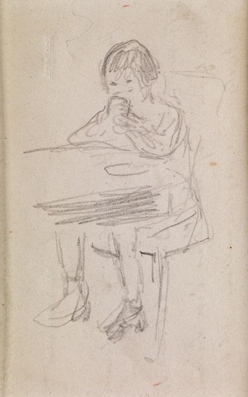 Max Liebermann, 1847 - 1935, mit Autograph von Leo Fall, 1873 - 1925, österreichischer Komponist und Kapellmeister