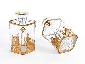 Detail images:  Paar Likörflaschen