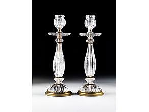 Detailabbildung: † Paar Bergkristall-Kerzenstöcke