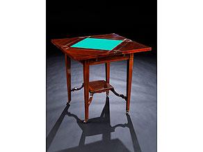 Detailabbildung: Kleiner Spieltisch in Mahagoni