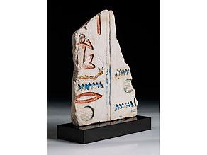 Detail images:  Kalksteinrelief mit Hieroglyphen