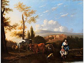 Detail images:  Holländischer, in Italien wirkender Maler des 17. Jahrhunderts