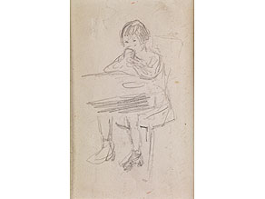 Detail images:  Max Liebermann, 1847 - 1935, mit Autograph von Leo Fall, 1873 - 1925, österreichischer Komponist und Kapellmeister