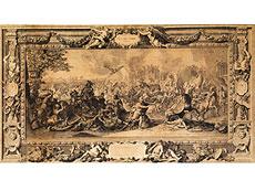 """Detail images: Paar Stiche nach dem """"Alexander-Zyklus"""" von Le Brun in Paris"""