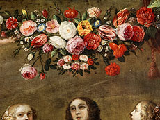 Detail images: Jan Brueghel, 1601 - 1678 und Hieronymus Janssens, 1624 - 1693