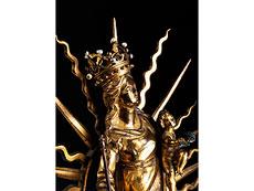 Detail images: Strahlenkranz-Madonna in Bronze und Feuervergoldung