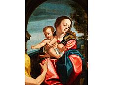 Detail images: Domenico Mona, 1550 - 1602, Mitarbeiter des Giuseppe Mazzuoli, 1536 - 1589 Ferrara