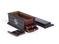 Detail images: Palisanderholz-Schatulle mit Geheimschubladen