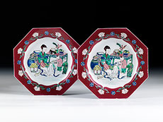 Detail images: Paar famille rose-Teller