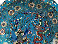 Detail images: Cloisonné-Schale