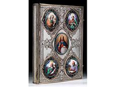 Detail images: Russisches Prunk-Evangeliar, St. Petersburg, 19. Jahrhundert
