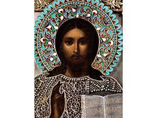 Detail images: Ikone mit der Darstellung von Christus Pantokrator