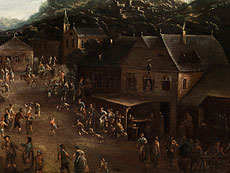 Detail images: Pieter Bout, 1658 - 1719, zug.