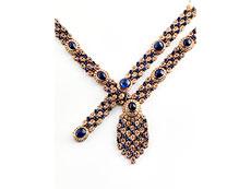 Detail images: † Safir-Brillantcollier mit Armband