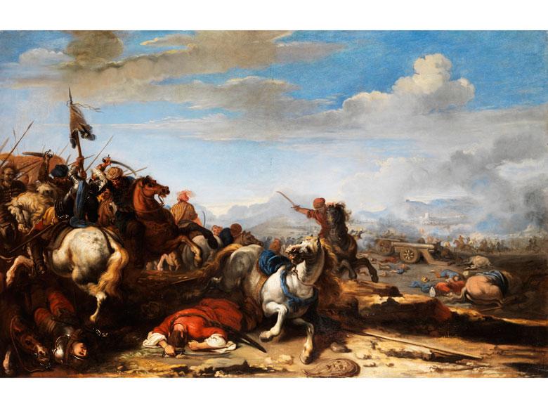 "Jacques Courtois, genannt ""Borgognone , 1621 Saint-Hippolyte - 1676 Rom"
