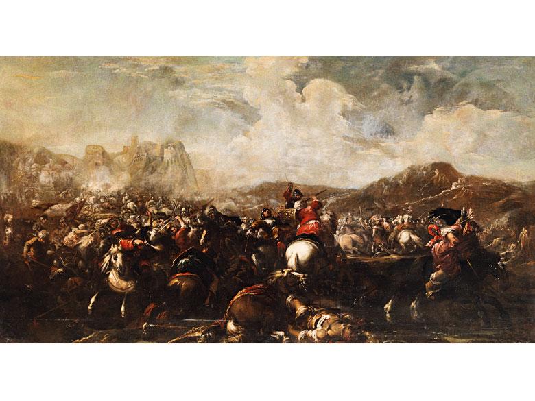 """Jacques Courtois, gennant """"Borgognone , 1621 Saint-Hippolyte - 1676 Rom"""