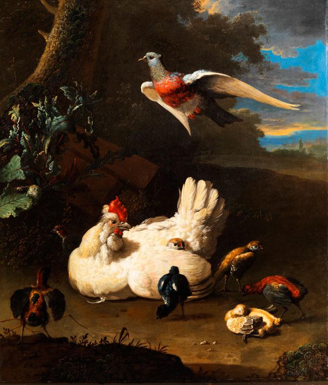 Melchior de Hondecoeter, 1636 Utrecht - 1695, zug.
