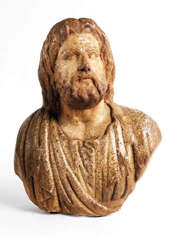 Marmorbüste des Gottes Zeus