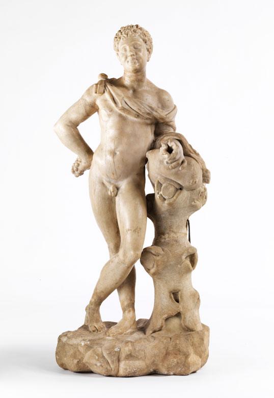 Marmorfigur eines Bacchus