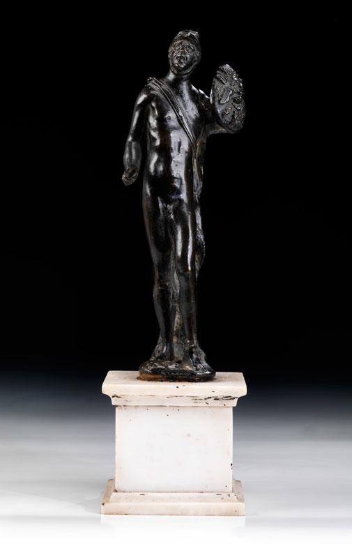Italienische Bronzefigur des Kriegsgottes Mars