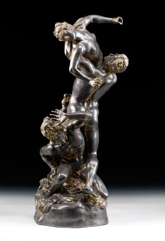 """Bleigussfigur """"Raub der Sabinerin nach Modell von Giovanni da Bologna, 1529 - 1608"""